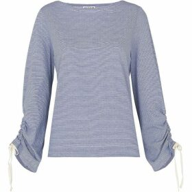 Whistles Gathered Sleeve Boat Neck