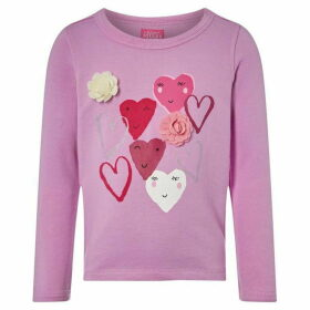 Little Joule Sweater with Graphic Hearts