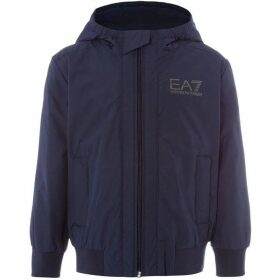 EA7 Junior Zip Through Logo Hoodie