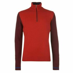 Paul Smith Haqlf Zip Funnel Knit