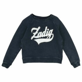 Zadig and Voltaire Gilrs Navy Fleece Sweater