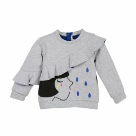 Catimini Grey Marl Double-Sided Jersey Sweater