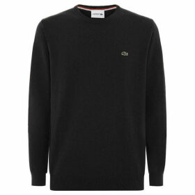 Lacoste Crew Neck Wool Jersey Sweater