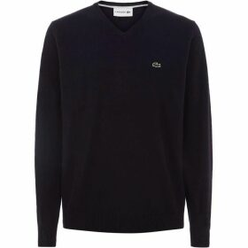Lacoste V-Neck Wool Jersey Sweater