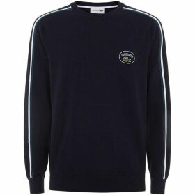 Lacoste Crew Neck Contrast Accents Cotton Jersey Sweater