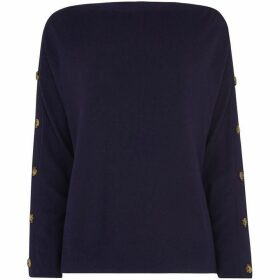 Whistles Button Sleeve Relaxed Knit
