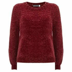 Mint Velvet Berry Chenille Cropped Knit