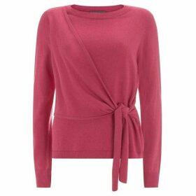 Mint Velvet Cerise Tie-Front Knit