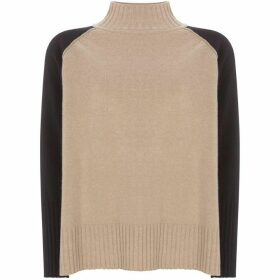 Mint Velvet Camel Blocked Boxy Knit