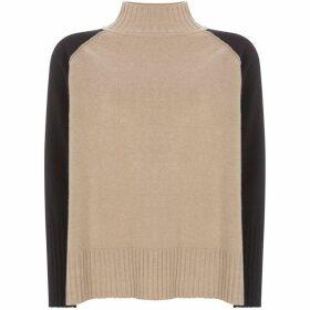 Mint Velvet Camel Blocked Boxy Knit