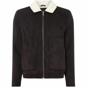 Native Youth Faux Zip Up Shearling Jacket