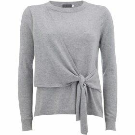 Mint Velvet Silver Grey Tie Front Knit