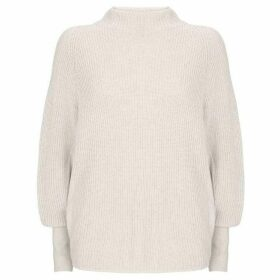 Mint Velvet Ivory Ribbed Batwing Knit