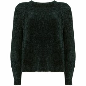 Mint Velvet Green Chenille Cropped Knit