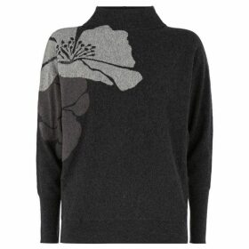 Mint Velvet Grey Abstract Floral Batwing