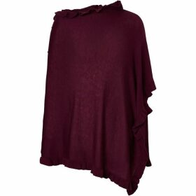 Winser London Ruffle Trim Poncho
