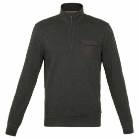 Ted Baker Heaarts Long Sleeve Half Zip Funnel Neck Jumper