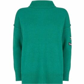 Mint Velvet Jade Badge Detail Knit