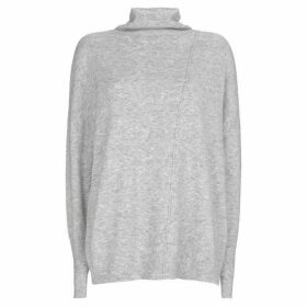 Mint Velvet Silver Grey Raw Seam Boxy Knit