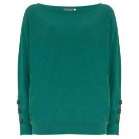 Mint Velvet Jade Buttoned Batwing Knit