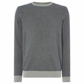 Selected Homme Herringbone crew neck