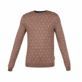 Ted Baker Talkoo Triangle Jacquard Crew Neck Jumper
