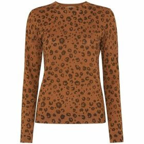 Whistles Cheetah Printed Sparkle Knit