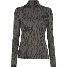 Whistles Animal Burnout Polo Neck