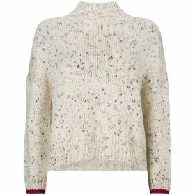 Mint Velvet Ecru Flecked Fisherman Knit