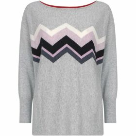 Mint Velvet Grey Zag Cocoon Knit
