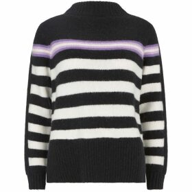 Mint Velvet Black & White Striped Knit