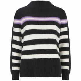 Mint Velvet Black & White Striped Knit