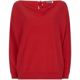 Mint Velvet Red Tie Back Batwing Knit