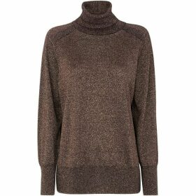 Whistles Sparkle Relaxed Polo Neck