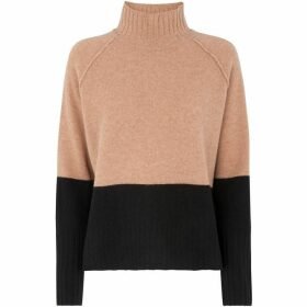 Whistles Colour Block Funnel Neck Knit