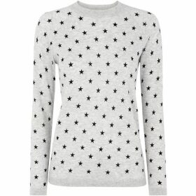 Whistles Star Print Crew Neck Knit