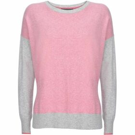 Mint Velvet Pink & Grey Blocked Knit