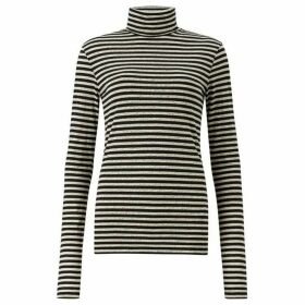 All Saints Lake Stripe Roll Neck