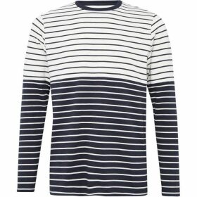 French Connection Tim Stripe Crew Neck Top