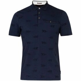 Ted Baker Tigors Printed Polo T-Shirt