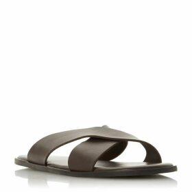 Dune Iruma Leather Cross Strap Sneakers