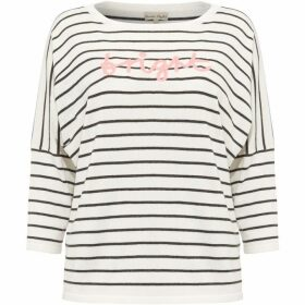 Phase Eight Suzanne Stripe Logo Knit