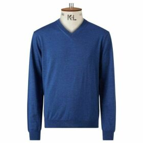 Chester Barrie Blue V Neck Sweater