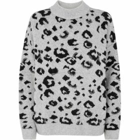 Whistles Leopard Intarsia Knit