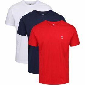 Luke Johnys 3Pk Crew Neck T-Shirts