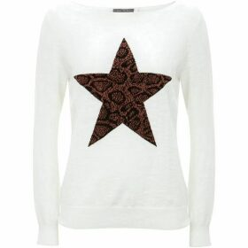 Mint Velvet Ivory Animal Star Front Knit