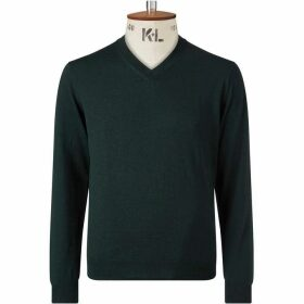 Chester Barrie Green V Neck Sweater