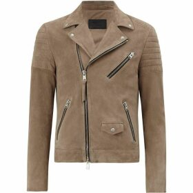 All Saints Leo Suede Biker