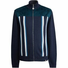 Pretty Green Zip Through Knitted Neck Sweat