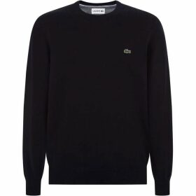 Lacoste Crew Neck Caviar Pique Accent Cottom Jer